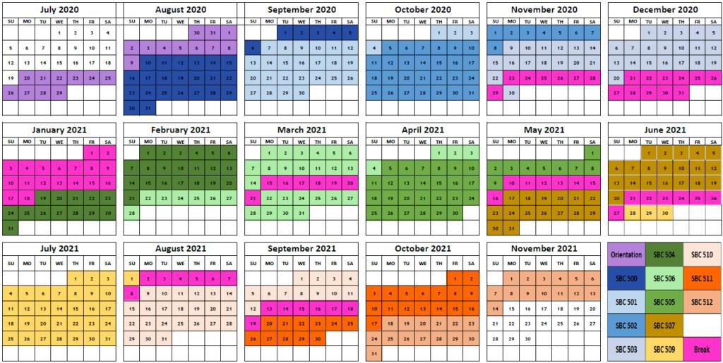 Cohort 4 Calendar and Key